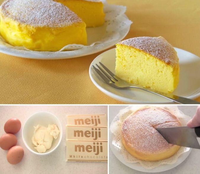 3 ingredient Japanese soufflé cheesecake