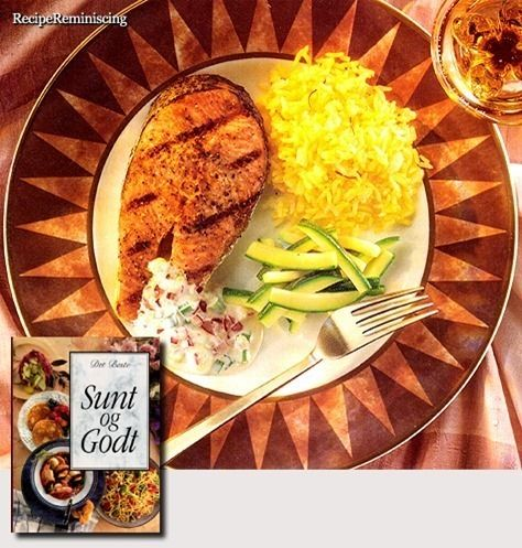 Grilled Salmon with Horseradish Sauce / Grillet Laks med Pepperrotsaus