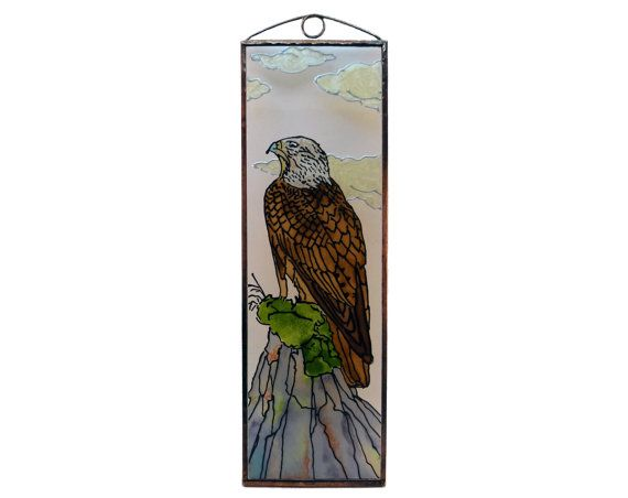Eagle - Hunting - Painted Glass