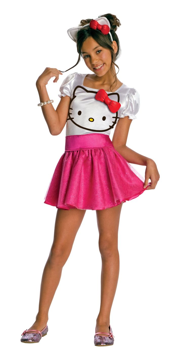 A cute fashionista kitty!  You'll be the cutest cat in town in this beautiful ensemble this Halloween! The Hello Kitty - Hello Kitty Tutu Dress Child Costume includes a white and pink puff sleeve tutu dress, a coordinating belt and a shiny red hair bow. Sure to be the prettiest cat around!