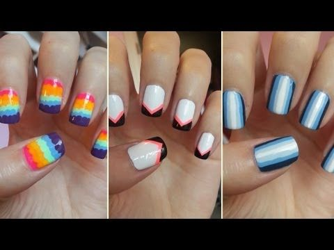 Easy Nail Art For Beginners 5 Youtube Couple Of Cute Easy Designs Nailed It