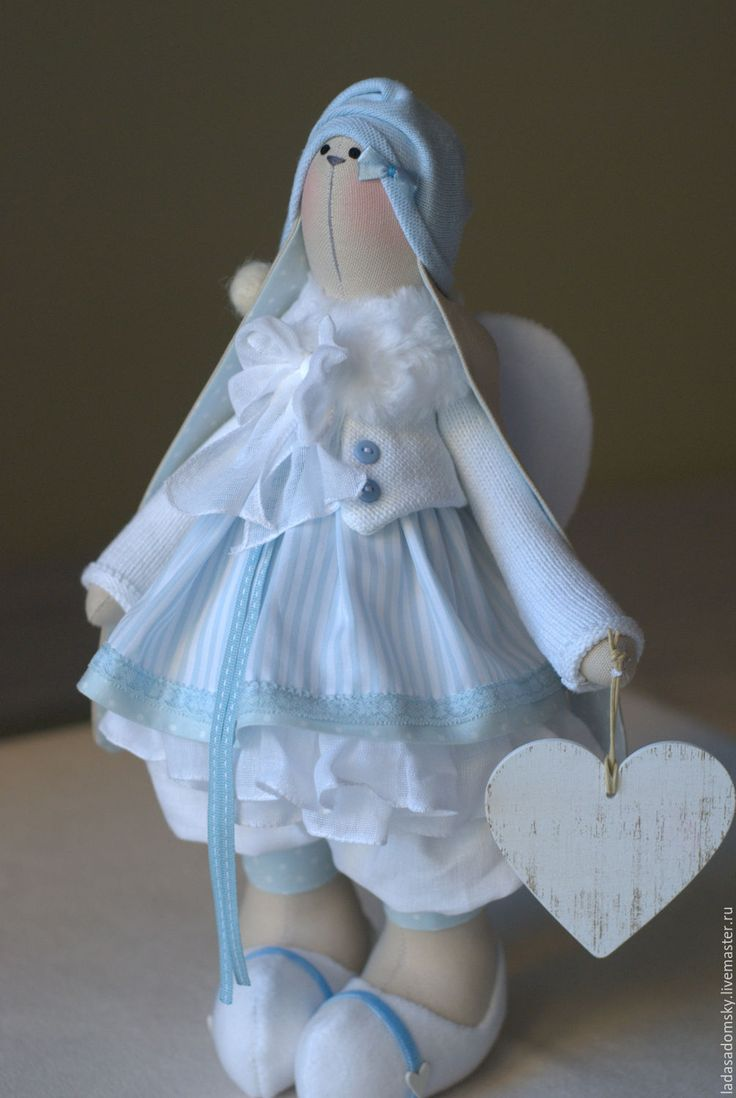 Купить Зайка ангелочек - текстильная игрушка 37 см - зайка, зайчик, зайчонок, тильда заяц