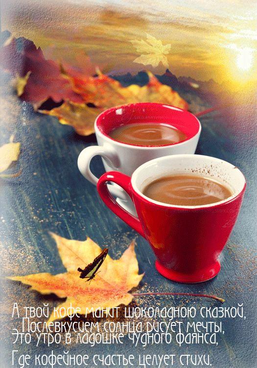 Летием совместной, открытки чашка чая в холодный осенний день с добрым утром
