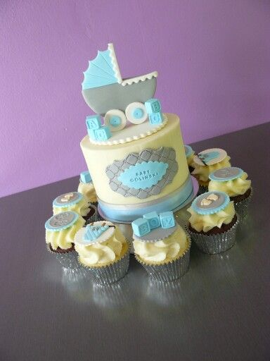 Baby Shower Cake and Cupcake combo