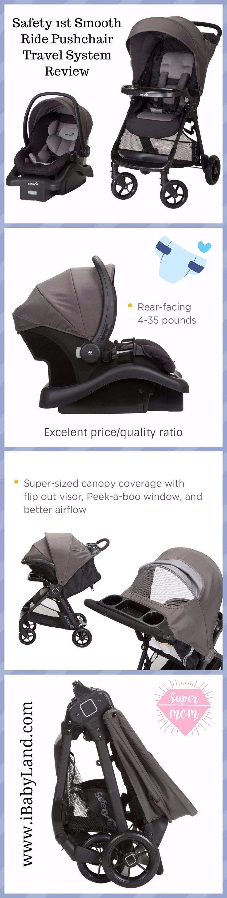 Best baby stroller carseat review | We definitely believe the Safety 1st Smooth Ride Pushchair Travel System is one of the best value travel systems available today. For around the $150...(read more)