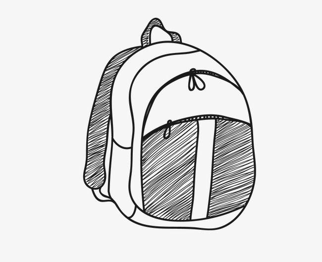 رسم ناقلات الكرتون حقيبة مدرسية Cartoon Sketches Black Cartoon Student Bag