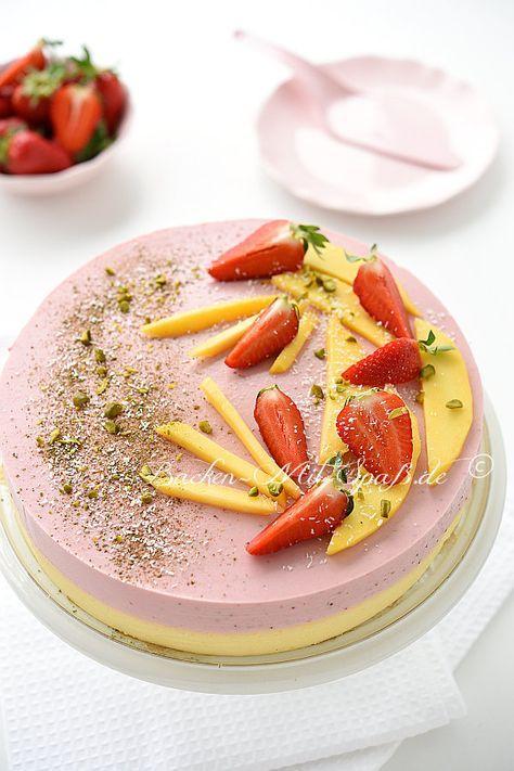 Erdbeer Mango Joghurt Kuchen Rezept Kuchen Pinterest