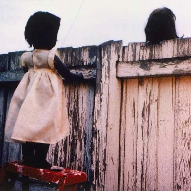 Destiny Deacon's 'over the fence' (2000)