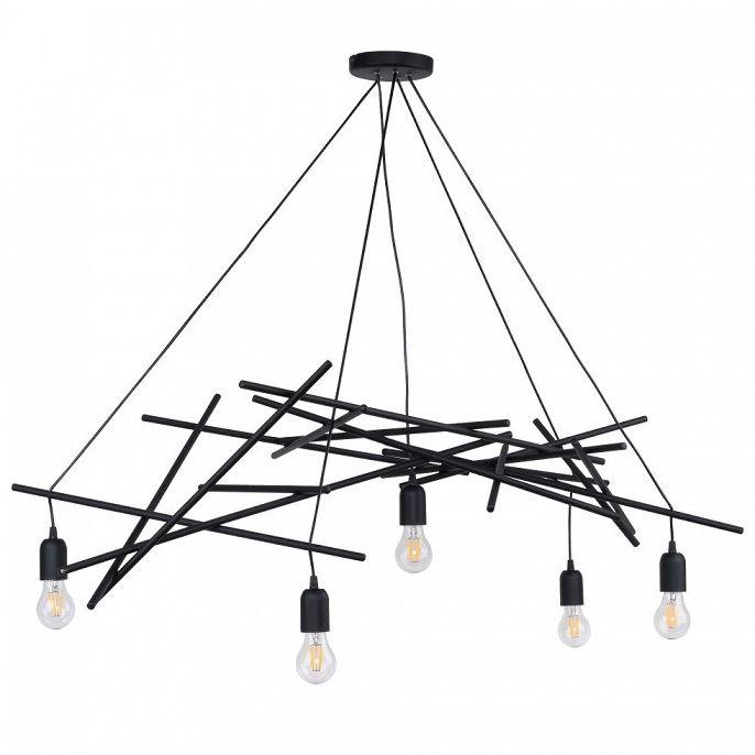 Żyrandol LAMPA wisząca GLENN 9222504 Spotlight designerska OPRAWA zwis metalowy czarny