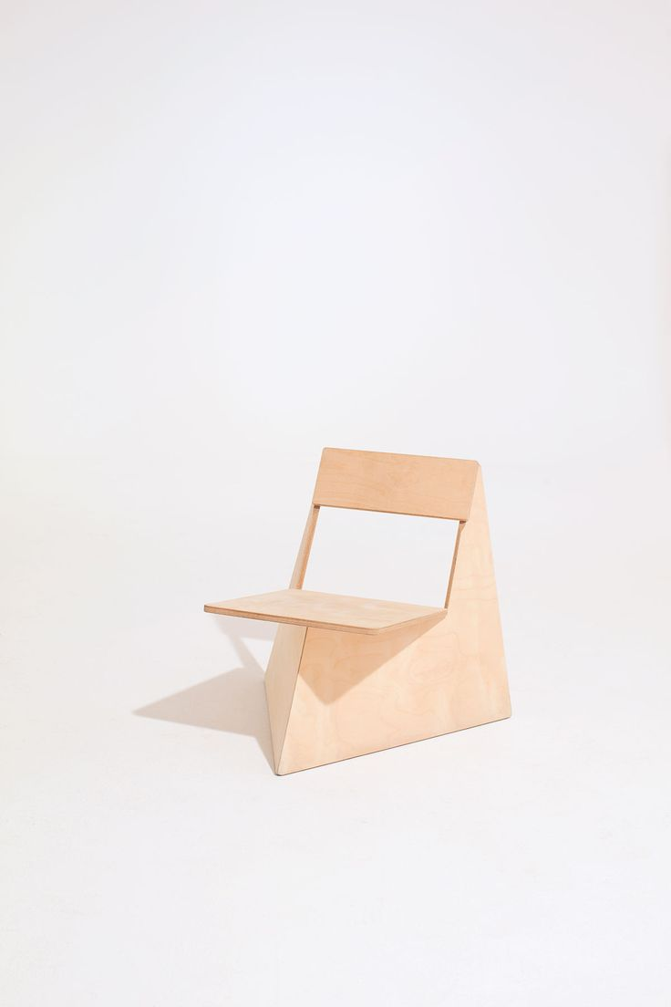 """The Four Brothers chair by Seungji Mun is created with no material waste. """"...I visited a furniture factory in South Korea. ... I was surprised because a lot of wood waste was thrown out during production. In the end, 50% wood was wasted during the process..."""""""