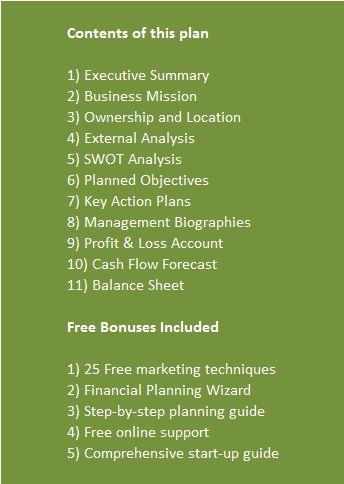 The  Best Business Plan Sample Pdf Ideas On   Sample
