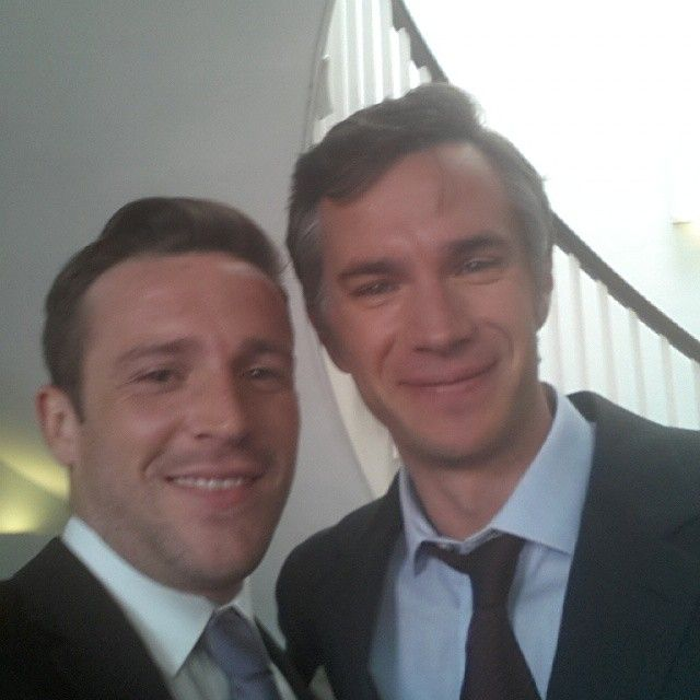 """August 24. 2014: carlo71985 (Carl Owen) on instagram posted:  """"Me and James D'Arcy on set today really nice bloke"""" Carl is the guy with the child bride at the end of the film"""