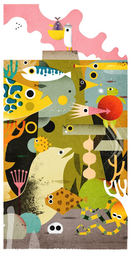 ocean illustration by Philip Giordano illustration  http://philipgiordano.tumblr.com
