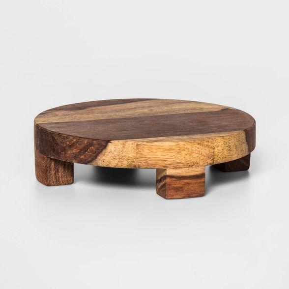 6 Sheesham Wood Trivet Natural Threshold In 2020 Wood Trivets Sheesham Wood Wood Pedestal