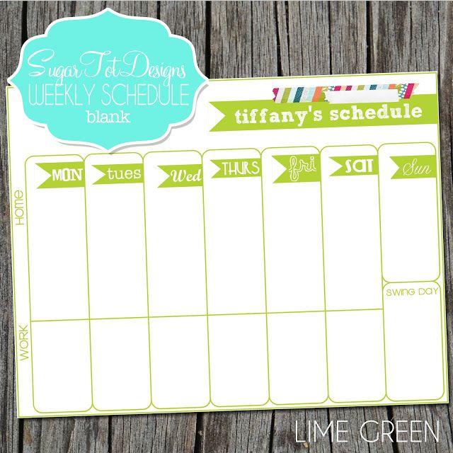 best 25  weekly calendar template ideas on pinterest