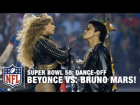 Beyoncé and Bruno Mars join Coldplay and have a dance-off during the Super Bowl 50 Halftime Show. Subscribe to the NFL YouTube channel to see immediate in-ga...