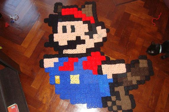 Instant Download Pattern - Super Mario Crochet Rug on Etsy, $4.80 CAD