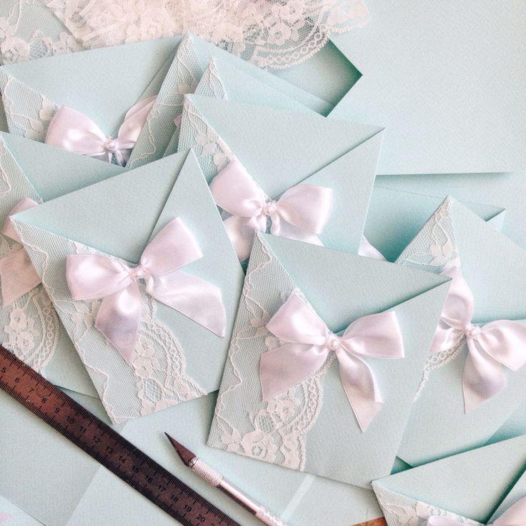 Пригласительные на свадьбу, ручная работа, мятный цвет