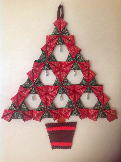 Folded Fabric Christmas Tree – A Tutorial | Little By Little By Bossymamma