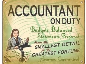 Retro Accounting Advertisement