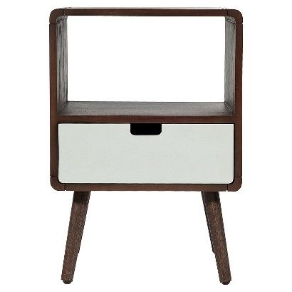 1-Drawer Mid-Century Kids Nightstand - Pillowfort™ - Gray Marble