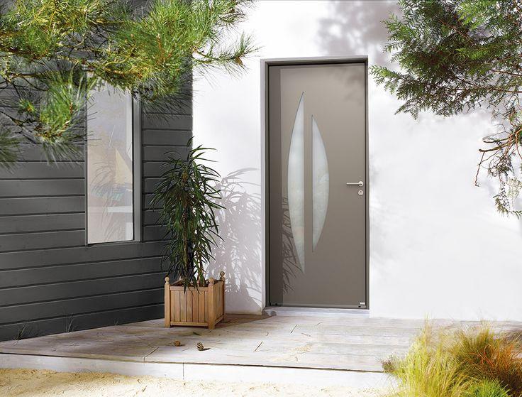 91 best porte d 39 entr e aluminium ambiance images on for Prix porte d entree bel m