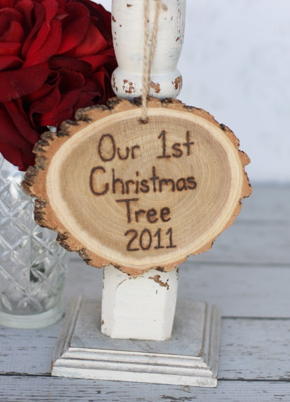 Our First Christmas Tree ornament. Such a great idea! Totally doing this. Already saved a piece :)