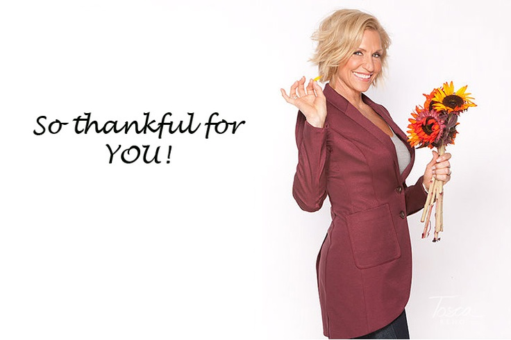 Tosca Reno: Happy Thanksgiving America - I'm Celebrating with You!