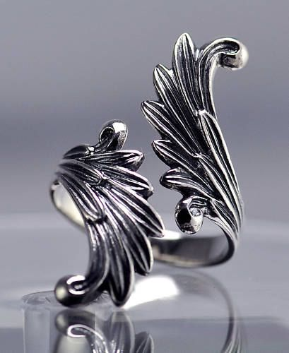 Final Fantasy 8 VIII ff8 Rinoa Siren wings game Ring Sterling silver .925 Jewelry Pick your size. $63.00, via Etsy.
