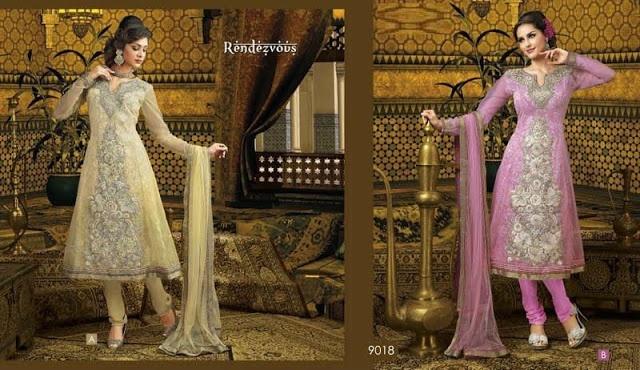 La moda en la India - El Salwar Kameez tipo Anarkali se caracteriza porque el diseño del kameez es largo y amplio, como un vestido acampanado, y se acompaña con un pantalon tipo Churidar. Son muy populares para ocasiones formales como bodas, festivals y otras ceremonias.