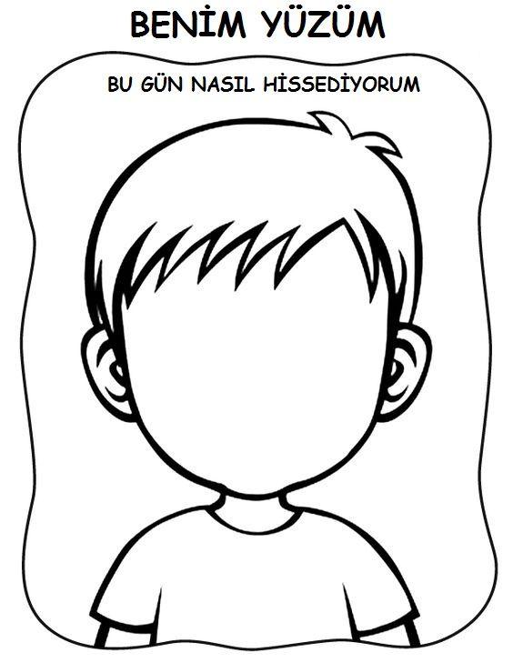 Bos Yuz Kalibi 31 Kumral Coloriage Enfant Enfant Ve Maternelle