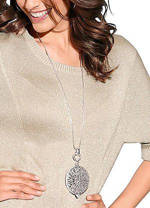 Creation L Large Brass Pendant Necklace #kaleidoscope #jewellery
