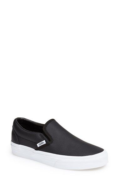 Vans 'Classic' Perforated Slip-On Sneaker (Women) at Nordstrom.com. Perforated leather textures a hot slip-on featuring sleek metropolitan style.