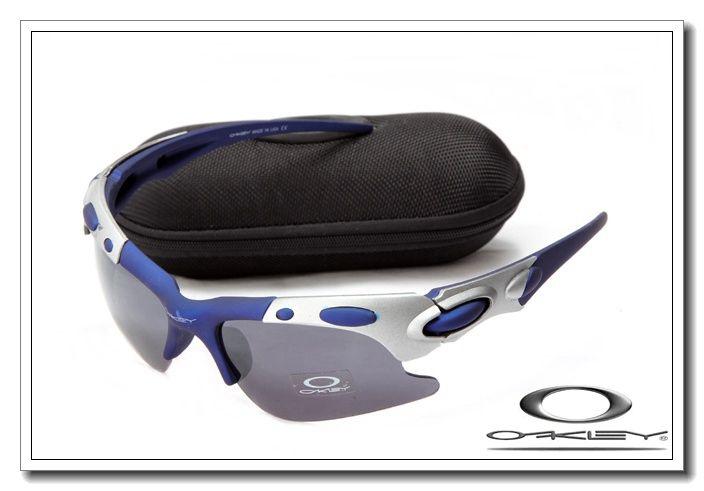 Oakley plate sunglasses matte blue and silver / black iridium $13.00