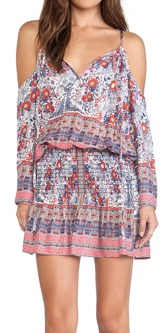 Boho off shoulder dress