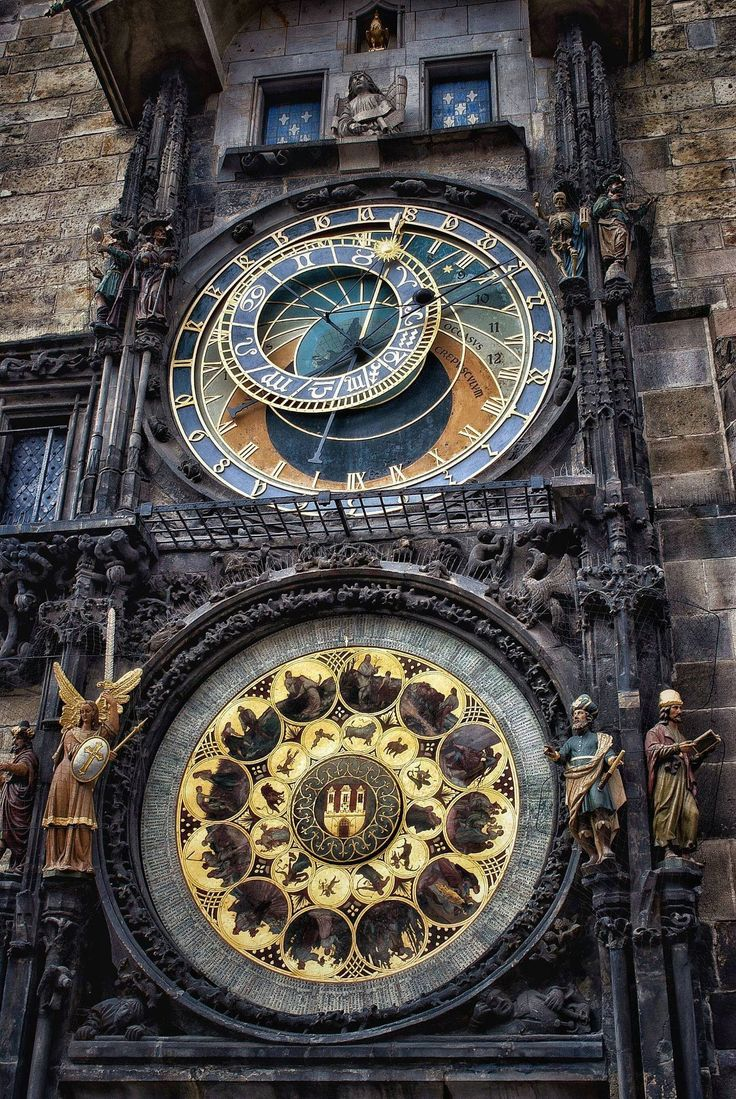 The Prague astronomical clock, installed in 1410. It is the world's oldest astronomical clock still in operation.