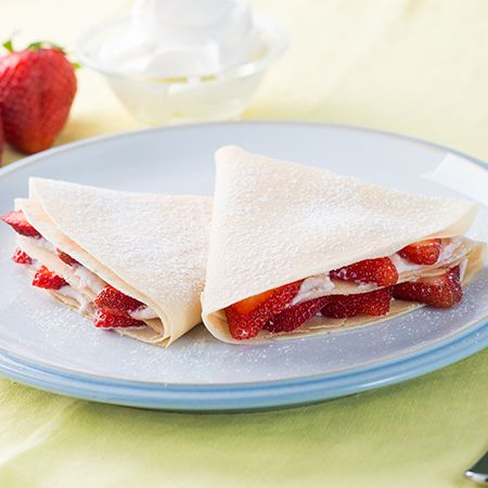 Crepes with Ricotta and Strawberry Spread | BREAKFAST | Pinterest ...