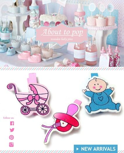 About to pop Baby shower party gifts New collection fw 2015 jewelry and fashion accessories materials