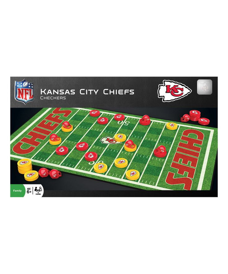 Look at this Kansas City Chiefs Checkers Game Set on #zulily today!