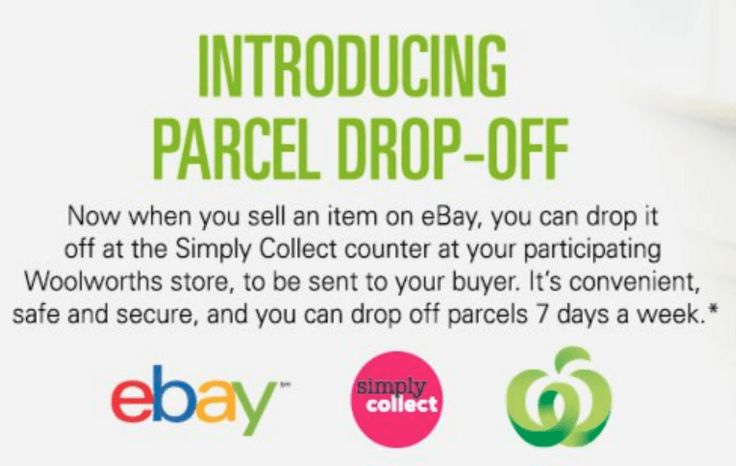 Ebay Sellers Can Drop Items At Woolworths For Shipping Ebay Intellegence Drop