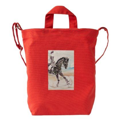 Tote Bag for Horse Lovers - red gifts color style cyo diy personalize unique