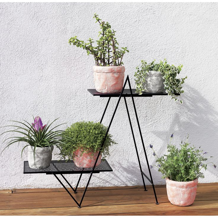 angled plant stand in outdoor   CB2