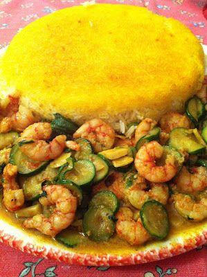 La mia cucina persiana: Gamberi al Curry con Riso Basmati allo Zafferano - Meigu Polò