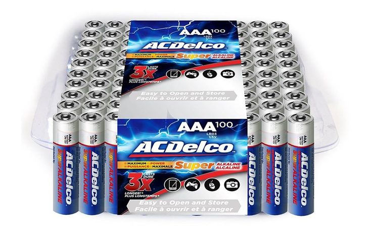 AAA Batteries, Alkaline AAA Battery, Value Pack,100 Count, Big pack Alot,ACDelco #ACDelco