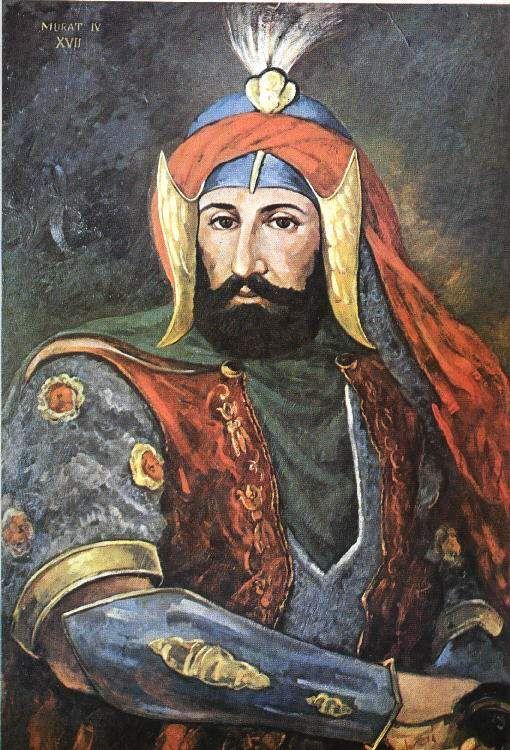 Le grand Sultan Ottoman et le Calife de l'ISLAM, celui qui à humilié et vaincu les perses chiite Safavide Murad IV 10 septembre 1623 – 9 février 1640