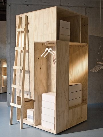 Zalando Pop-Up Shop with cool wood products!