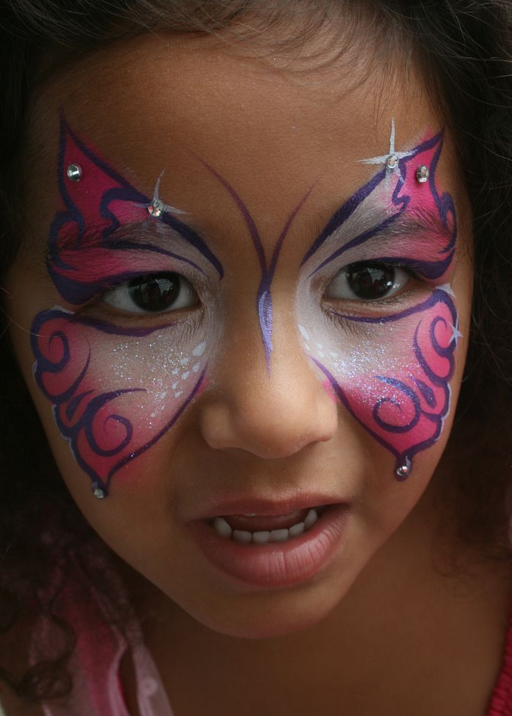 Butterfly Face Painting | sparkle butterfly face paint