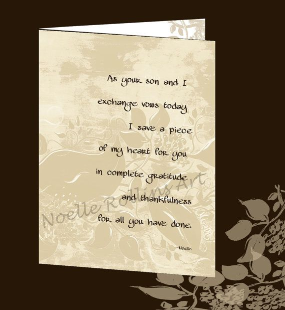 wedding day card for Mother Father Parents of the groom card for ...