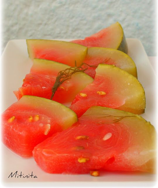Mitinita: Pepene murat - Pickled watermelon