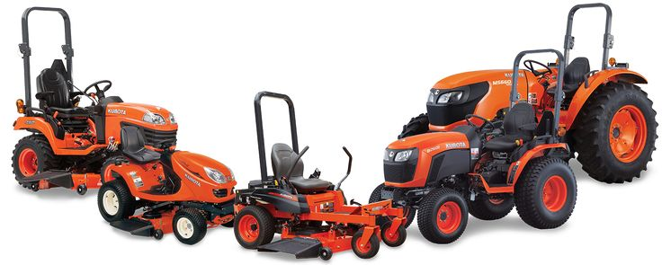 Kubota range.From Tractors to Tlb's